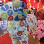 Patung Shio Kambing Tahun Baru Imlek 2015