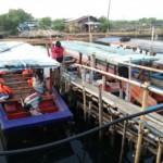 Kapal Nelayan di Muara Kamal Cengkareng