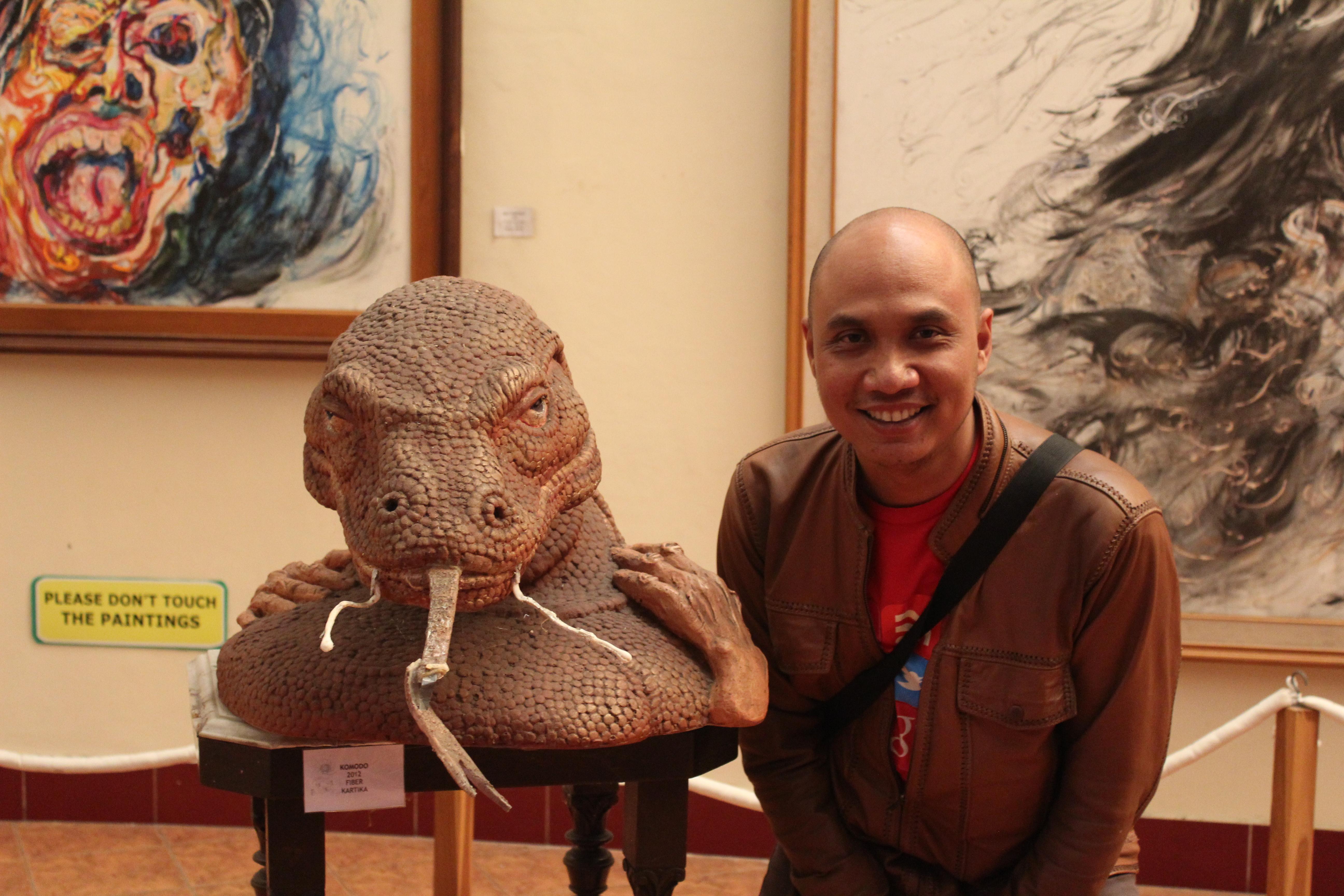 Patung Komodo di Museum Seni Rupa Lukis Affandi