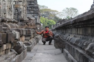 Candi Sewu di Taman Komplek Candi Prambanan